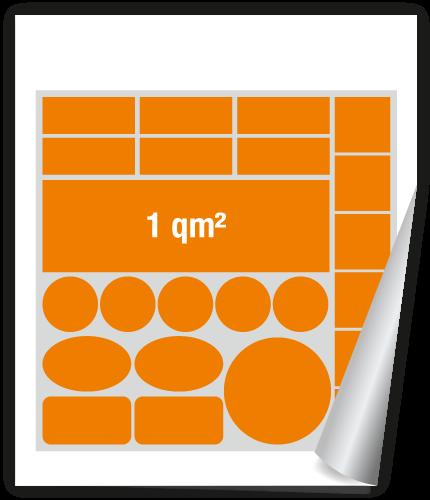 Handwerkerpaket Werbeaufkleber 1qm